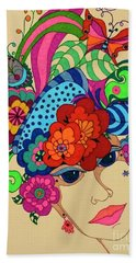 Hand Towel featuring the painting Carmen by Alison Caltrider