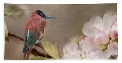 Carmine Bee-eater Bath Towel