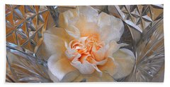 Carnation In Cut Glass 7 Hand Towel