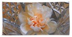 Carnation In Cut Glass 7 Bath Towel by Lynda Lehmann