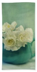 Carnations In A Jar Hand Towel