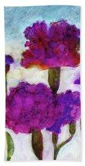 Carnations Bath Towel by Julie Maas