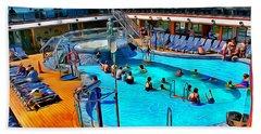Carnival Pride Pool Hand Towel