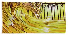 Carolina Beach North End Pier Hand Towel