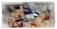 Carolina Chickadee - Come Fly With Me  Hand Towel