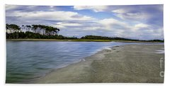 Carolina Inlet At Low Tide Bath Towel