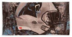 Carolina Panthers Football Helmet Painting Wall Art Hand Towel