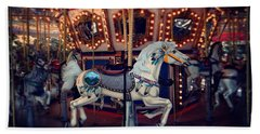 Bath Towel featuring the photograph Carousel by David Mckinney