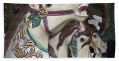 Bath Towel featuring the photograph Carousel Horse by Donna Walsh