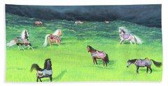 Carousel Horse Retirement Bath Towel