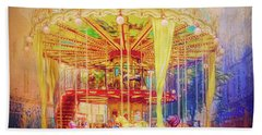 Bath Towel featuring the photograph Carousel by Wallaroo Images