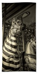 Hand Towel featuring the photograph Carousel Zebra by Caitlyn Grasso