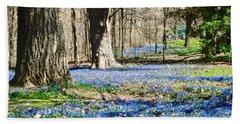 Carpet Of Blue Bath Towel by Stephanie Moore