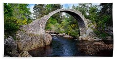 Carr Bridge Scotland Hand Towel by Don and Bonnie Fink