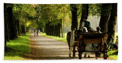 Carriage Ride In Hellbrunn Bath Towel