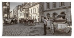 Carriages Back To Stephanplatz Hand Towel