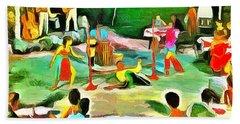 Carribean Scenes - Calypso And Limbo Bath Towel
