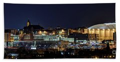 Carrier Dome And Syracuse Skyline Panoramic View Hand Towel