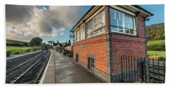 Hand Towel featuring the photograph Carrog Signal Box by Adrian Evans