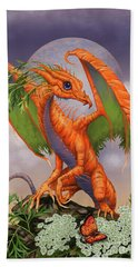 Hand Towel featuring the digital art Carrot Dragon by Stanley Morrison
