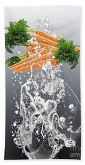 Carrot Splash Hand Towel