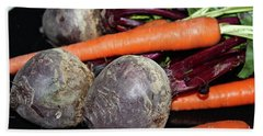 Bath Towel featuring the photograph Carrots And Beets by Ann E Robson