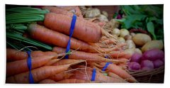 Carrots Vignette At Davis Farmers' Market Bath Towel