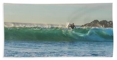 Carsbad Surfer Cutting In Hand Towel