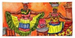 Cartagena Fruit Venders Hand Towel
