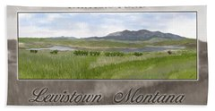 Hand Towel featuring the digital art Carter's Pond by Susan Kinney