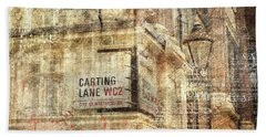 Carting Lane, Savoy Place Bath Towel by Nicky Jameson
