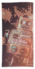 Cartoon Cyborg Robot Bath Towel