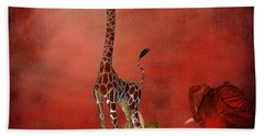 Cartoon Giraffe Hand Towel