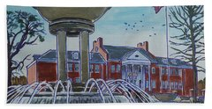 Cary Arts Center And Fountain Hand Towel
