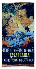 Hand Towel featuring the photograph Casablanca Mural 2013 by Padre Art
