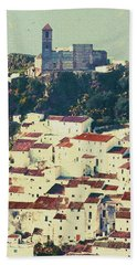 Casares Espana - Castle Of The Moors Hand Towel by Robert J Sadler