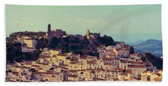 Casares Espana In Golden Light Circa 1972 Bath Towel by Robert J Sadler