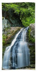 Cascade Falls In South Portland In Maine Hand Towel