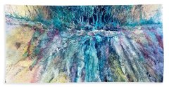Hand Towel featuring the painting Cascade Ridge by Carolyn Rosenberger