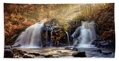 Hand Towel featuring the photograph Cascades Of Light by Debra and Dave Vanderlaan