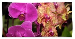 Cascading Orchids Bath Towel by Penny Lisowski