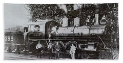 Bath Towel featuring the photograph Casey Jones Engine  by Jeanne May