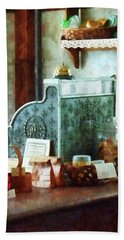 Bath Towel featuring the photograph Cash Register In General Store by Susan Savad