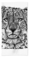 Cassandra The Cheetah Bath Towel by Abbey Noelle