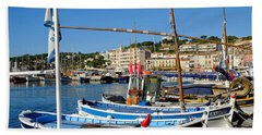 Cassis Harbor Bath Towel