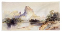 Castle Butte, Green River, Wyoming Bath Towel
