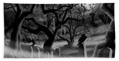 Castle Graveyard I Hand Towel by James Christopher Hill