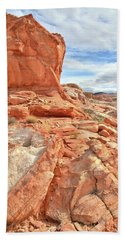 Castle High Above Wash 5 In Valley Of Fire Hand Towel by Ray Mathis