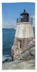 Castle Hill Lighthouse Newport Rhode Island Bath Towel by Brian MacLean