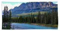 Castle Mountain, Ab  Bath Towel